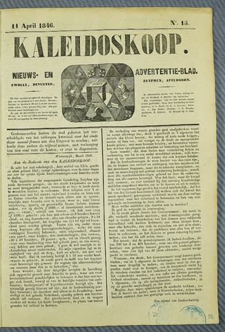 De Kaleidoskoop (1846-1851) 1846-04-11