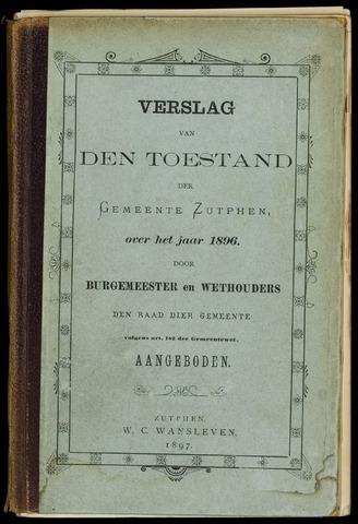 Jaarverslagen gemeente Zutphen (1851-1945) 1896-12-31