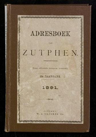 Adresboeken Zutphen (1863-1967) 1891-12-31