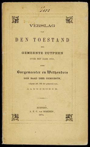 Jaarverslagen gemeente Zutphen 1873-12-31