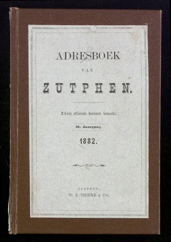 Adresboeken Zutphen 1882