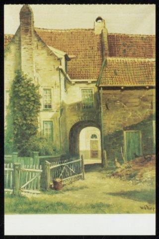Schilderij (ca. 1860) door Willem van der Worp van de poort van d...