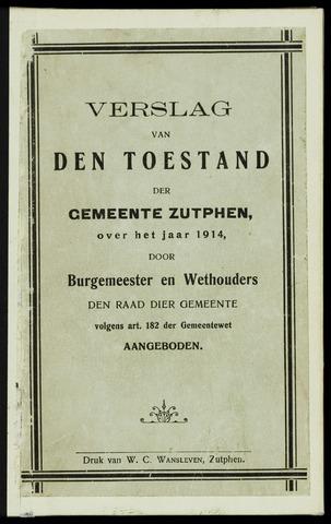 Jaarverslagen gemeente Zutphen 1914-12-31
