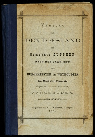 Jaarverslagen gemeente Zutphen (1851-1945) 1890-12-31