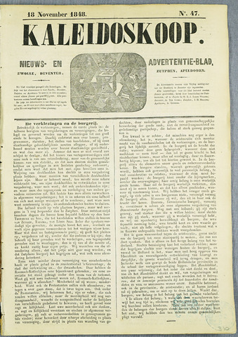 De Kaleidoskoop (1846-1851) 1848-11-18