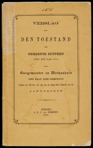Jaarverslagen gemeente Zutphen (1851-1945) 1875-12-31