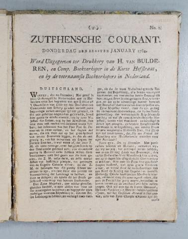 Zutphense Courant 1784