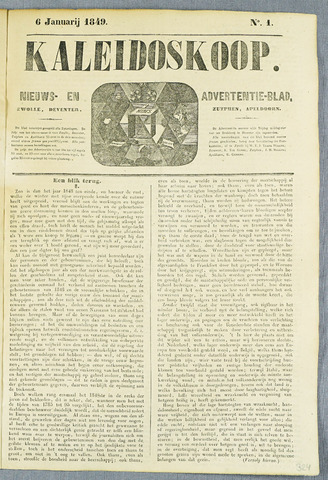 De Kaleidoskoop (1846-1851) 1849-01-06