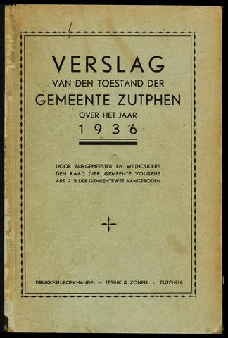 Jaarverslagen gemeente Zutphen (1851-1945) 1936-12-31