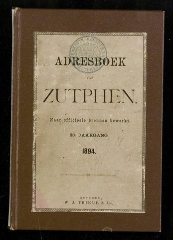 Adresboeken Zutphen (1863-1967) 1894-12-31