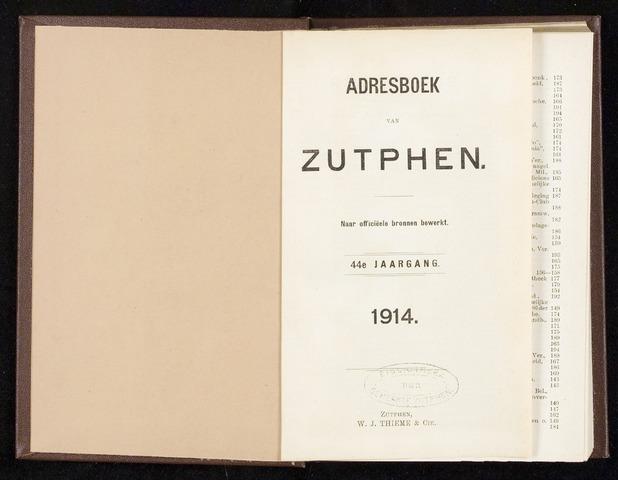 Adresboeken Zutphen 1914