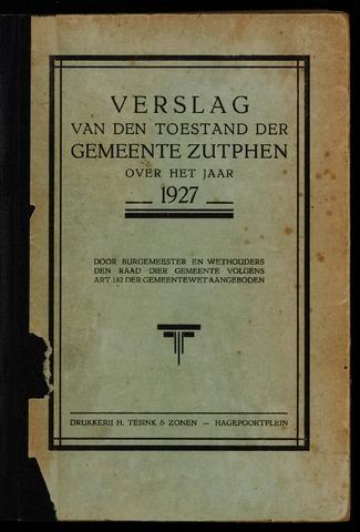 Jaarverslagen gemeente Zutphen (1851-1945) 1927-12-31