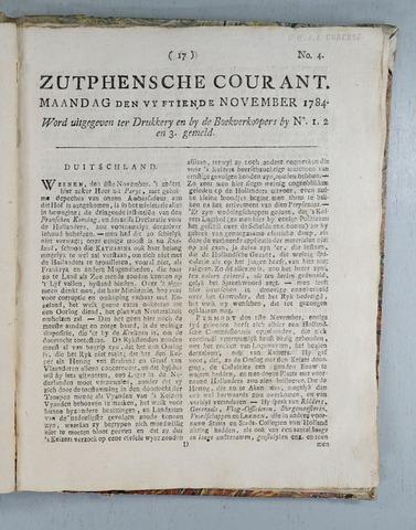 Zutphense Courant (1783-1784) 1784-11-15