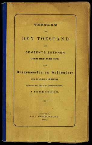 Jaarverslagen gemeente Zutphen 1880-12-31