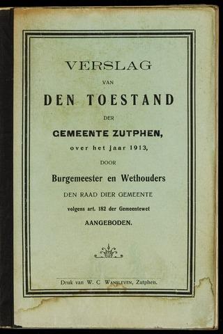 Jaarverslagen gemeente Zutphen (1851-1945) 1913-12-31