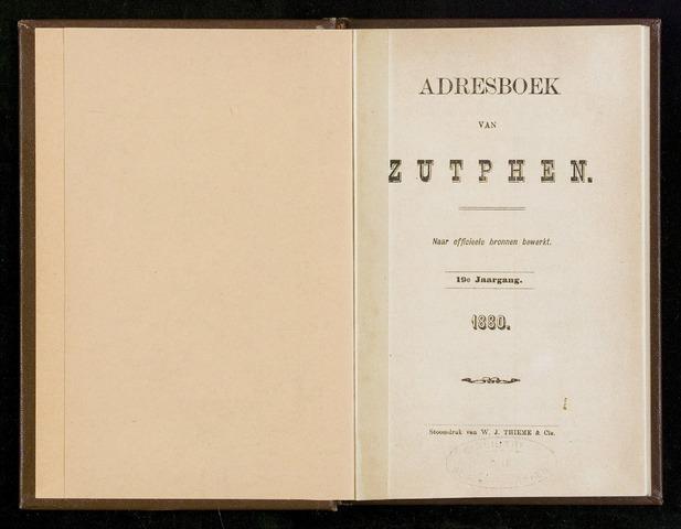 Adresboeken Zutphen 1880
