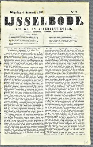 De IJsselbode (1852) 1852-01-06