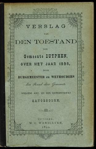Jaarverslagen gemeente Zutphen 1898-12-31