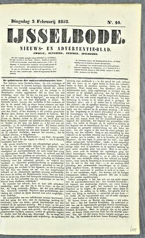 De IJsselbode (1852) 1852-02-03