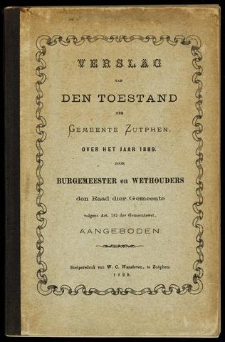 Jaarverslagen gemeente Zutphen 1889-12-31