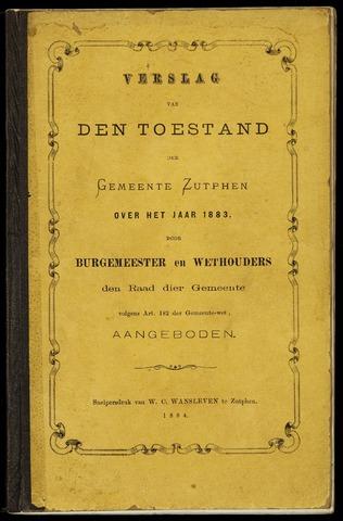 Jaarverslagen gemeente Zutphen (1851-1945) 1883-12-31