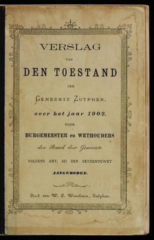 Jaarverslagen gemeente Zutphen 1902-12-31