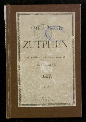 Adresboeken Zutphen 1897