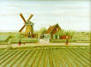 Schilderij van J. de Graaf (1918-2004), die oude beelden van de Smalstad weer af…