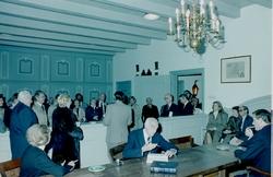 Rooseveltgroep uit Amerika bezoekt ambachtsherenhuis.
