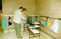 Onbekende school met de eerste computers.