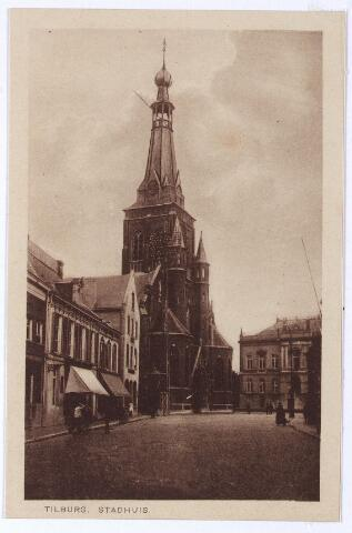 001868 - Oude Markt, voorheen de Markt met kerk van het Heike en voormalig gemeentehuis.