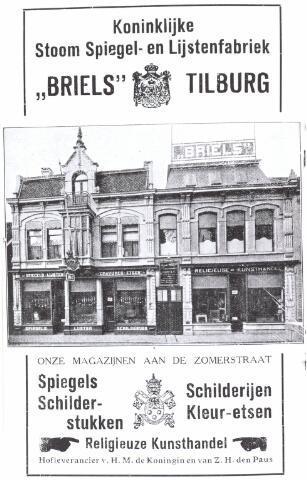 021905 - Advertentie van de firma Briels uit de Zomerstraat in een een boekje dat werd gemaakt ter gelegenheid van de Tilburgse Handel- en Nijverheidstentoonstelling van 20 tot en met 29 mei 1932 op het Piusplein
