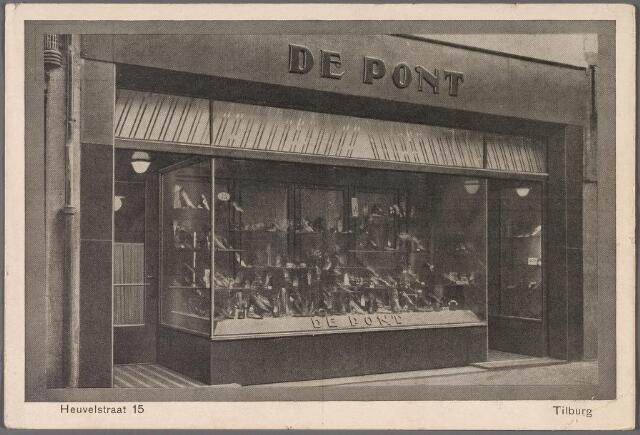 011287 - Heuvelstraat 15, de winkel van De Pont 'voor le klas schoenen'
