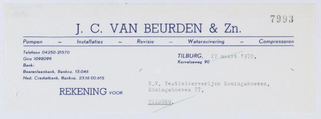 059618 - Briefhoofd. Briefhoofd van J.C. van Beurden & Zn. , Korvelseweg 90