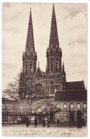 000886 - Kerk St. Jozef met lindeboom, pom en pastorie, Heuvel.
