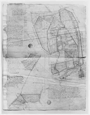 056368 - (Foto van een) kaart van de goederen van de abdij van Tongerlo onder Poppel en Goirle (Nieuwkerk)