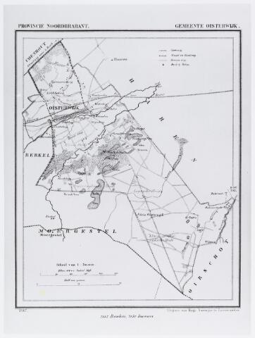 057091 - Kaart. Kaart van Oisterwijk 1867.