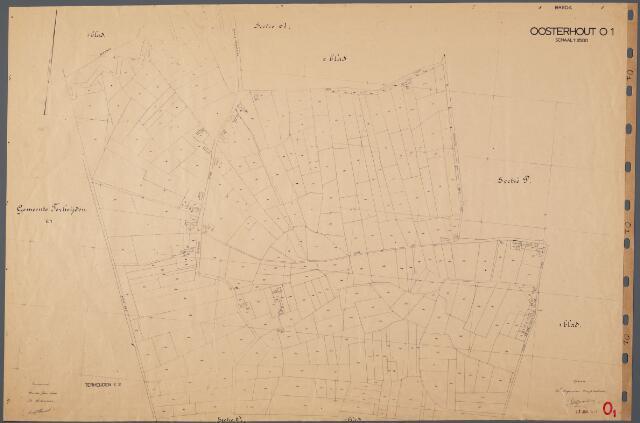 104849 - Kadasterkaart. Kadasterkaart Oosterhout Sectie O1, Schaal 1 : 2.500