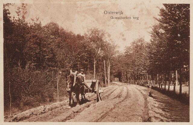 057254 - Gemullehoekenweg. Paard met wagen.