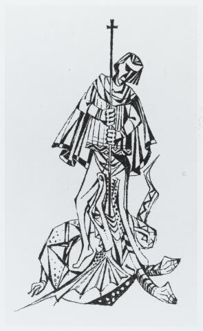056159 - St. Joris met de draak patroon van de Goirlese scouting.