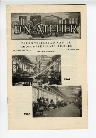 604314 - D´N Atelier, maandblad. Personeelsblad van de NS werkplaats te Tilburg.