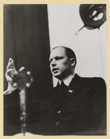 077312 - Arnold Meijer, leider Zwart Front, van 1934-1941. De partij werd in december 1941 verboden.
