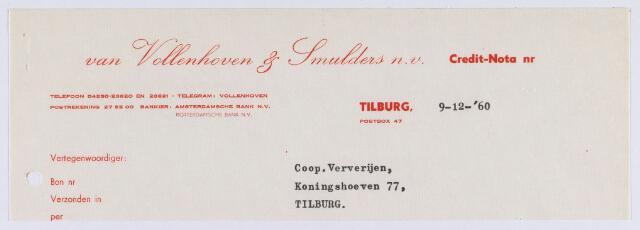 061362 - Briefhoofd. Nota van  Van Vollenhoven & Smulders n.v. voor Coöp Ververijen, Koningshoeven 77