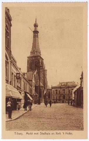 001873 - Oude Markt voorheen Markt met kerk van het Heike en voormalig gemeentehuis.