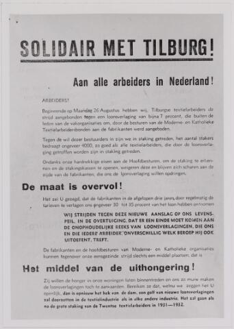 040878 - Textielstaking 1935. Pamfletten, Annonces, mededelingen in de Fakkel het orgaan van het nationaal arbeidssecretariaat, de textielarbeidersbond, de vereniging van Textielfabriekanten, inzake de staking van textielarbeiders op 13 september 1935.