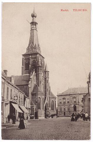 001857 - Oude Markt, voorheen de Markt met kerk van St. Dionysius (Heike) en voormalig gemeentehuis.
