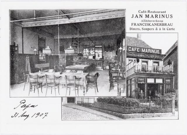 039984 - In- en exterieur van café Jan Marinus aan de Monumentstraat (nu ter plaatse Stadhuisplein)