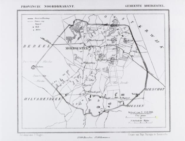 056854 - Kaart. Kaart van Moergestel