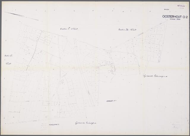 104949 - Kadasterkaart. Kadasterkaart / Netplan Oosterhout. Sectie O2. Schaal 1: 2.500