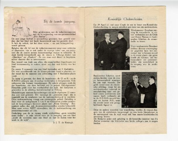 604307 - D´n  Atelier, maandblad. Personeelsblad van de NS werkplaats te Tilburg.  Afbeelding op de omslag: